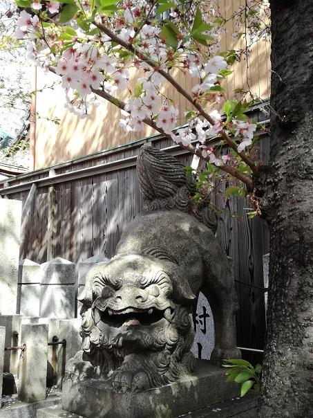 弥栄神社 狛犬 阿