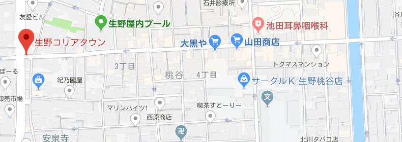 生野コリアンタウンマップ